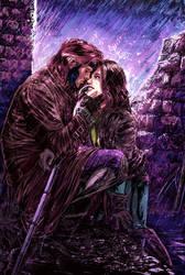 Gambit n Rogue color version by brokenluk