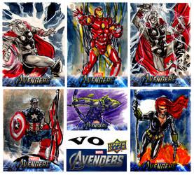 Avengers Assemble from Upper Deck by brokenluk
