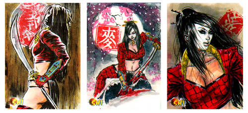 Shi sketch cards from 5Finity