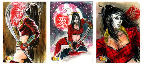 Shi sketch cards from 5Finity by brokenluk