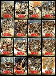 Walking Dead Comic series sketch cards by brokenluk