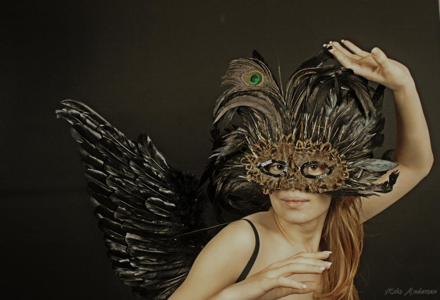 mask and wings by Keaphoto