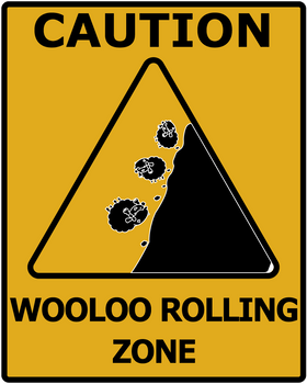 Rolling Wooloo Road Sign