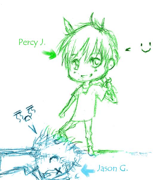 Percy vs. Jason by winter-monsoon