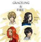 Graceling and Fire char. doodles c: