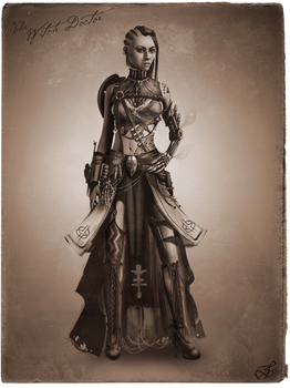 Tribal Steampunk Villain Concept: Witchdoctor