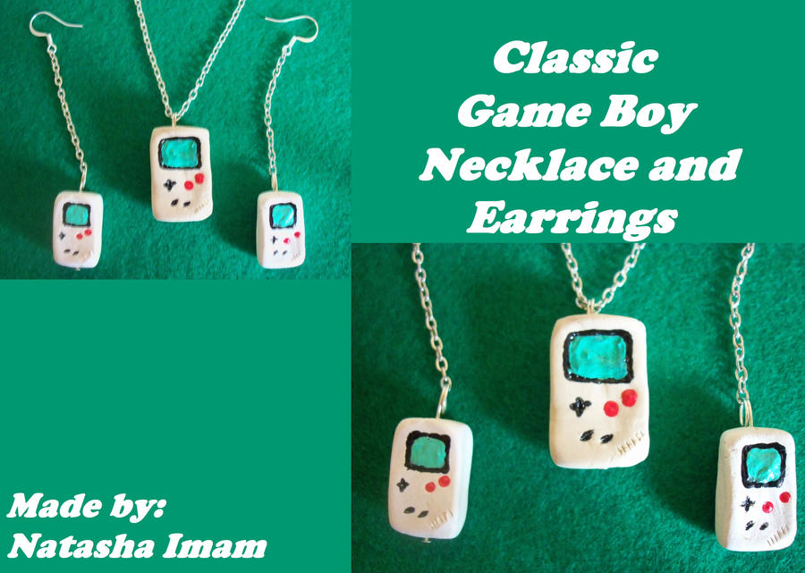 Gameboy Necklace and Earrings by TashaAkaTachi