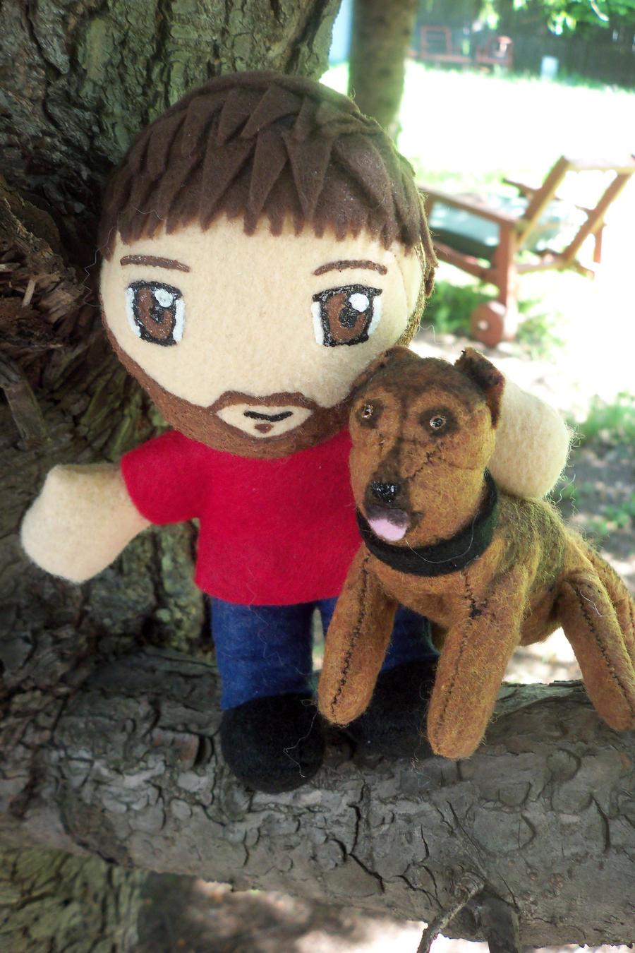 Gary and his dog Seven by TashaAkaTachi