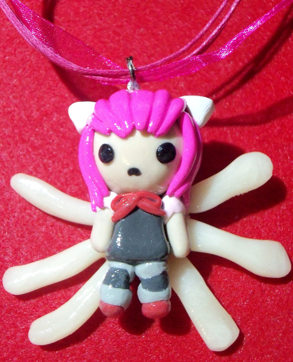Elfen Lied Lucy Chibi Necklace by TashaAkaTachi