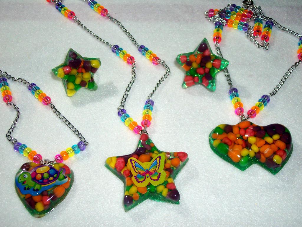 Nerds and Lisa Frank Jewelry by TashaAkaTachi