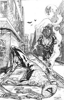 Spider-Man Morbius Marvel Sample (pencils)