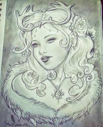 Snow Queen Concept Sketch 1