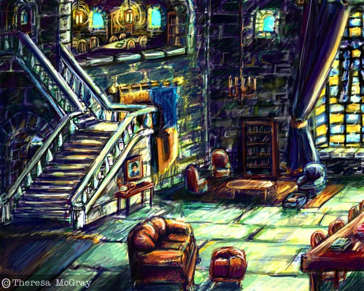 The Ravenclaw Common Room by mcgray on DeviantArt