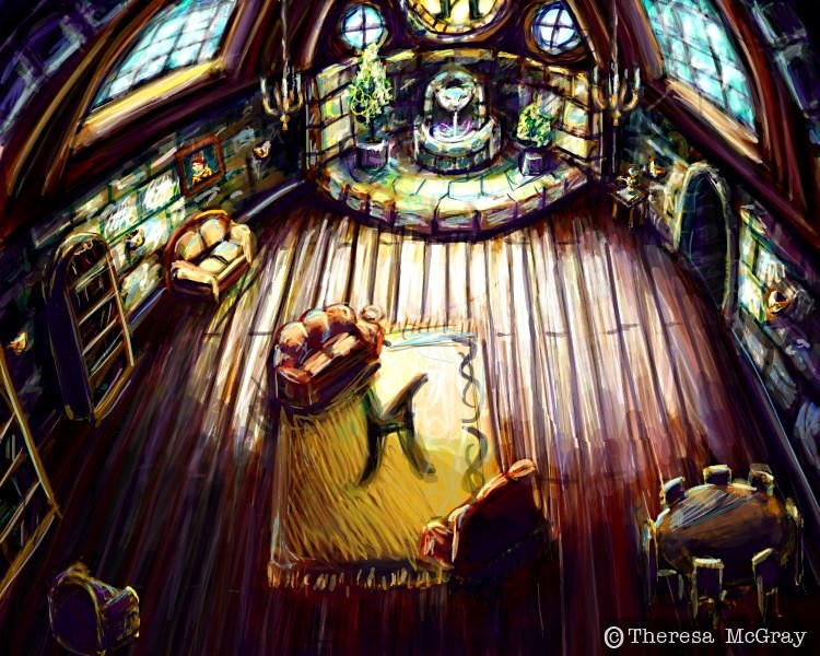 The Hufflepuff Common Room by mcgray on DeviantArt