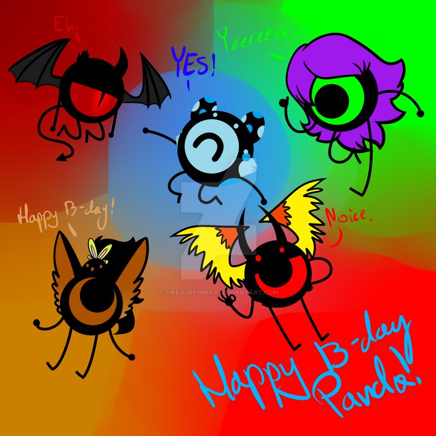 Happy B-day Panda by FireQueenMira