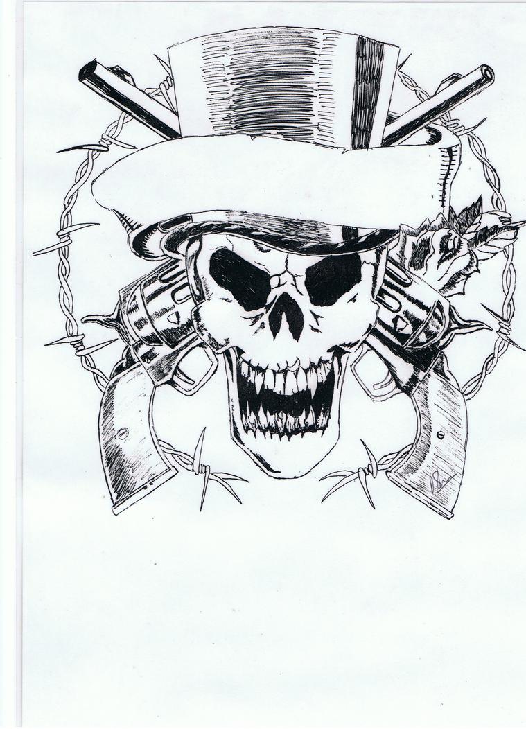 guns-n-roses skull by DaveArt65 on DeviantArt