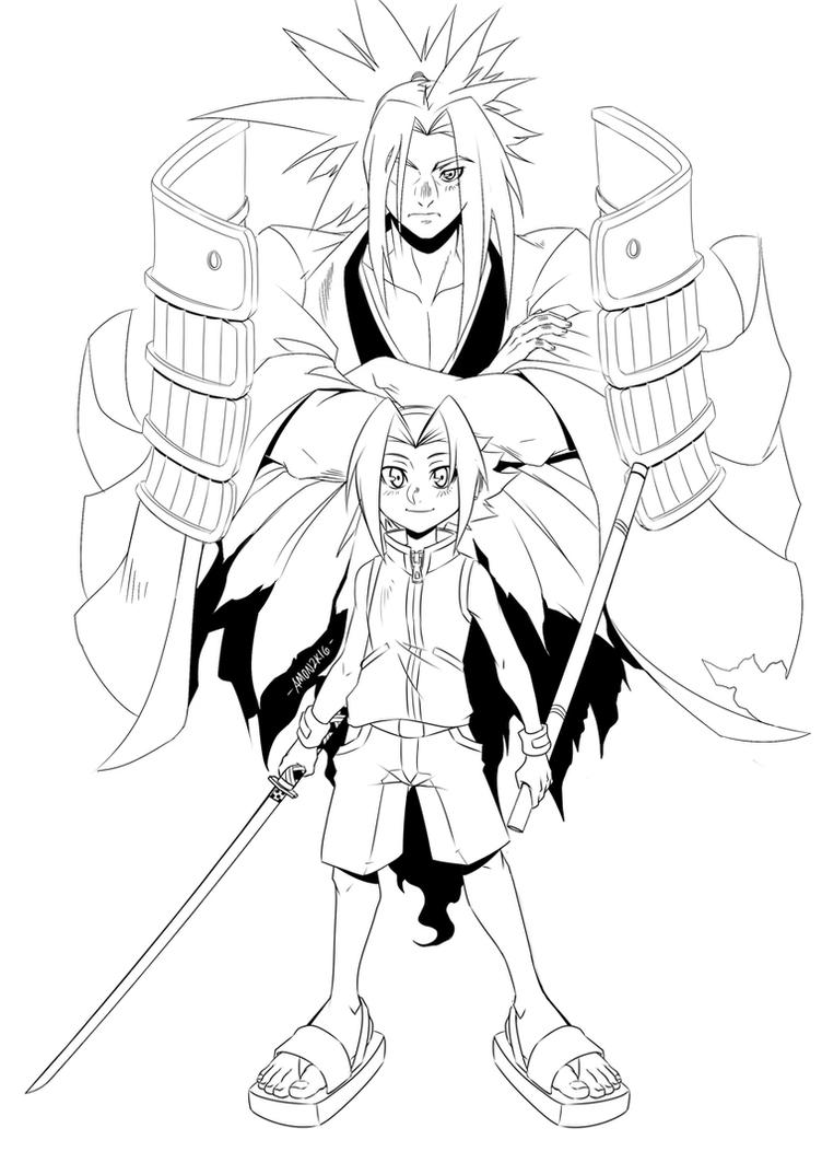 Fan Art: Shaman King Line Art by Ah-Mon