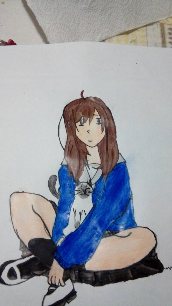 menina sentada by sandrablue12