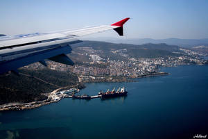 Flying over Bodrum by helixset