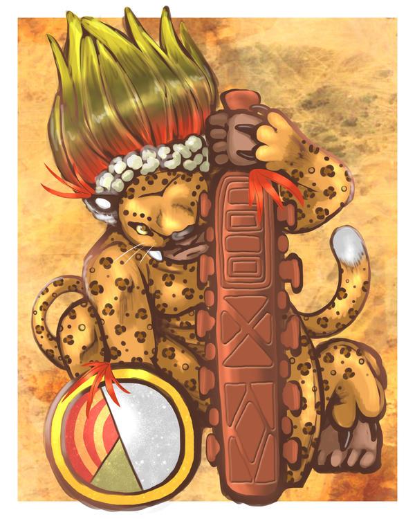 Aztec Jaguar Warrior By Nine Tailed Fox On Deviantart