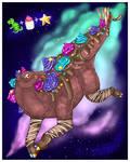 Cosmic Brownie Stegosaurus by Nine-Tailed-Fox