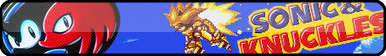 Sonic and Knuckles Fan Button by OrageSpark