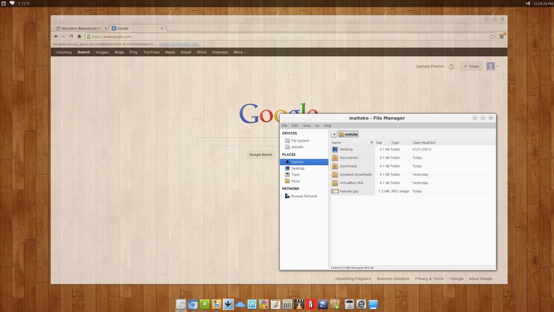 Xubuntu 13.04 Desktop of IRC user Maitake