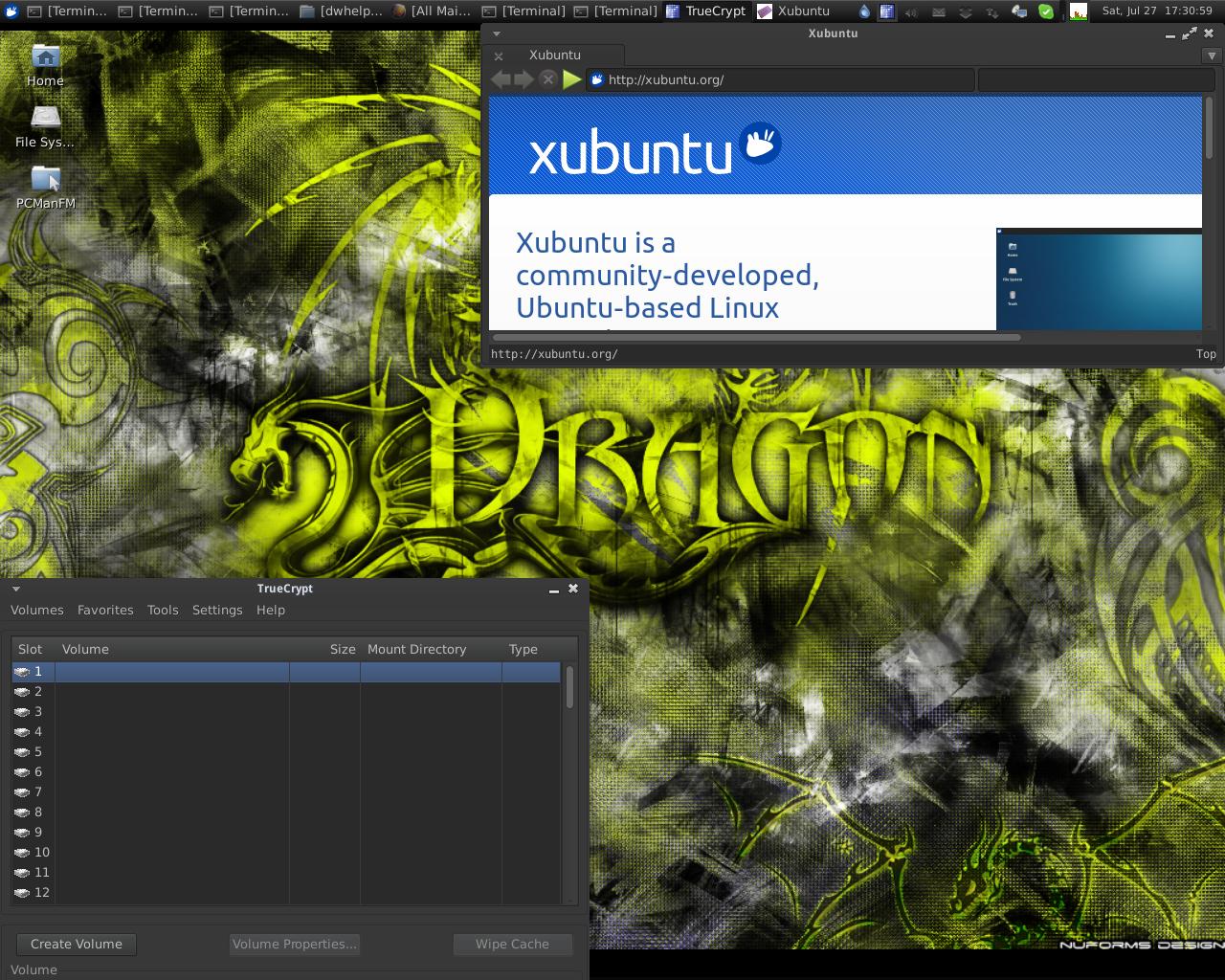 Xubuntu 13.04 Desktop of IRC user Unit193