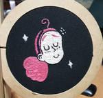Beanie fanart embroidery