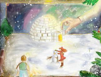 Arrietty in Winter Wonderland by Janna--San
