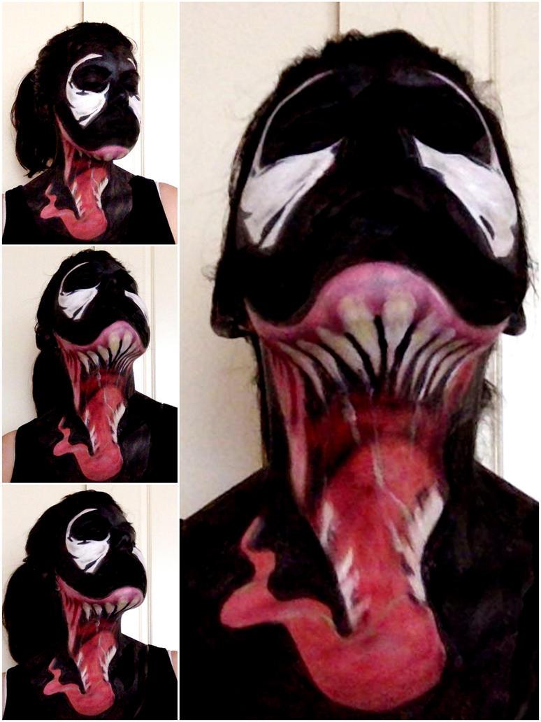 Venom facepaint by amandabpp on deviantart venom facepaint by amandabpp baditri Images