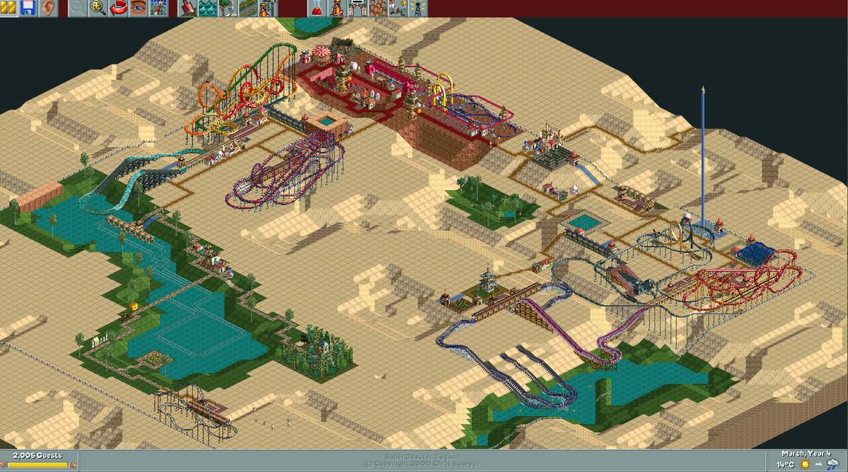 RollerCoaster Tycoon: Arid Heights by AndyFormal on DeviantArt