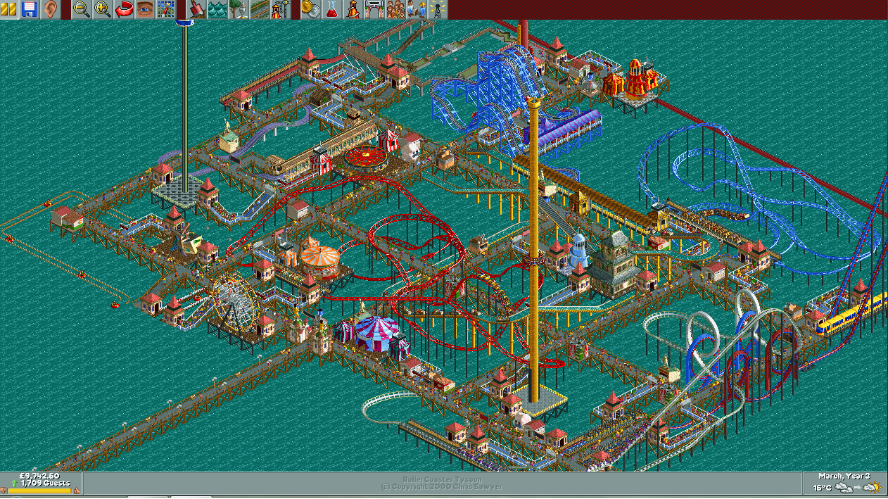 RollerCoaster Tycoon - Big Pier 2 by AndyFormal on DeviantArt