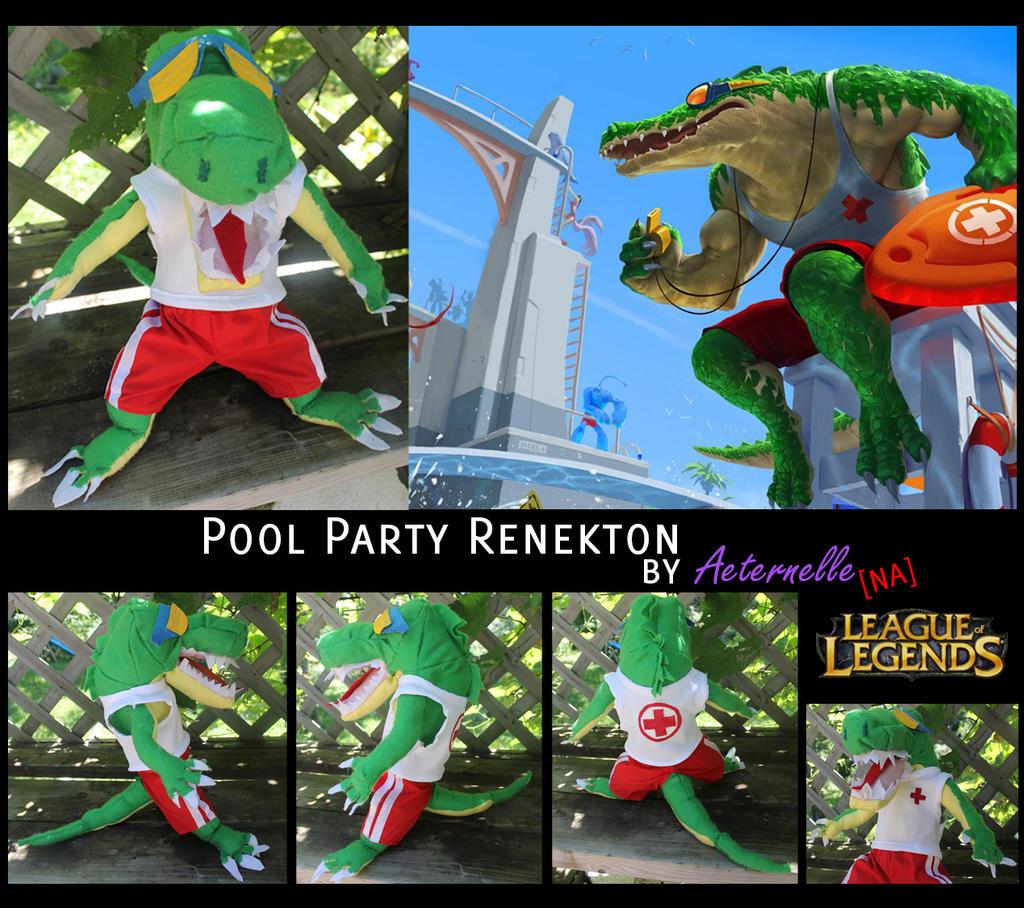 Pool Party Renekton Plush by EternityDesire on DeviantArt