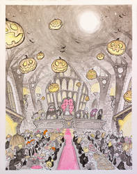Inktober 2015 The Great Hall by Natesquatch