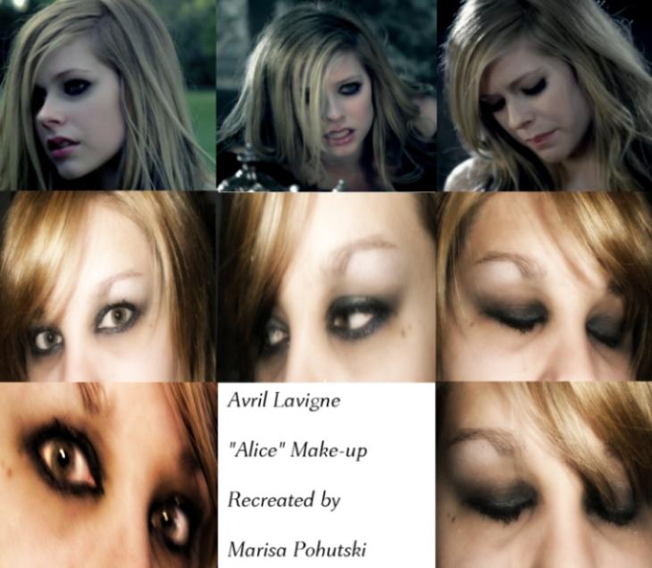 Avril Lavigne Alice Makeup Tutorial