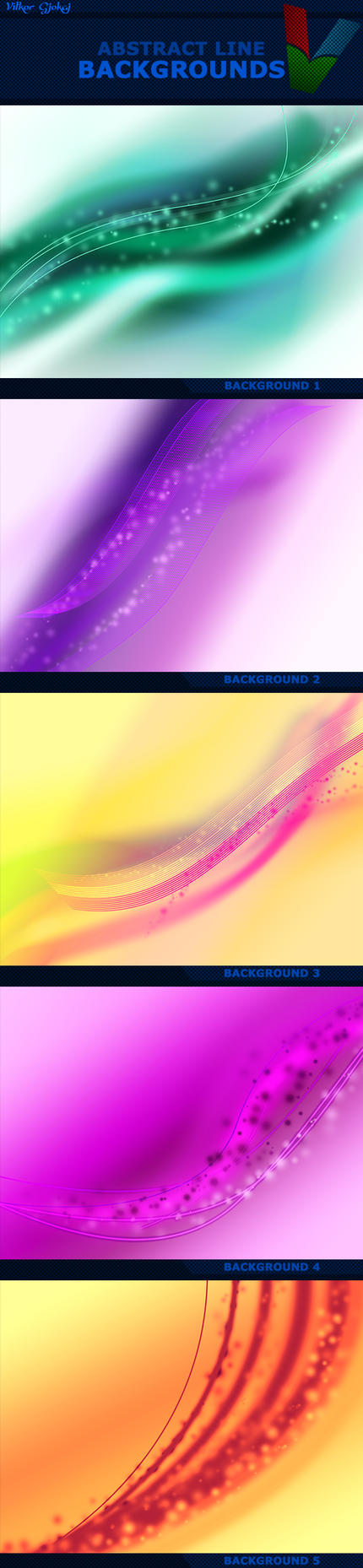 Abstract Line Backgrounds by ViktorGjokaj