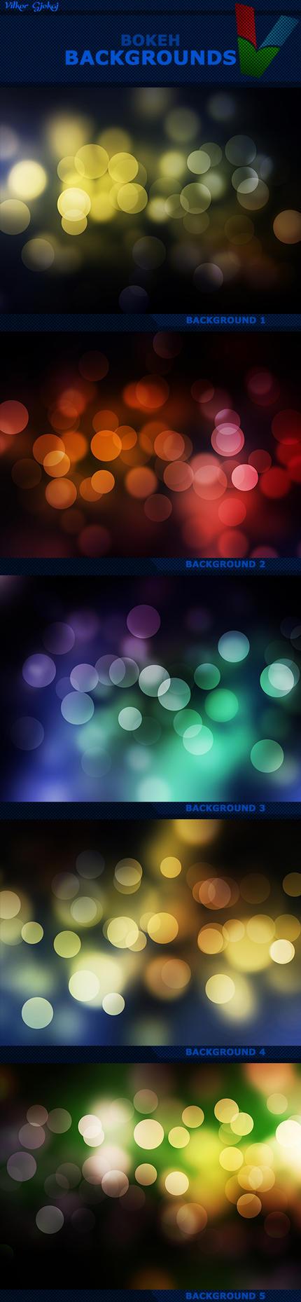 Bokeh Backgrounds by ViktorGjokaj