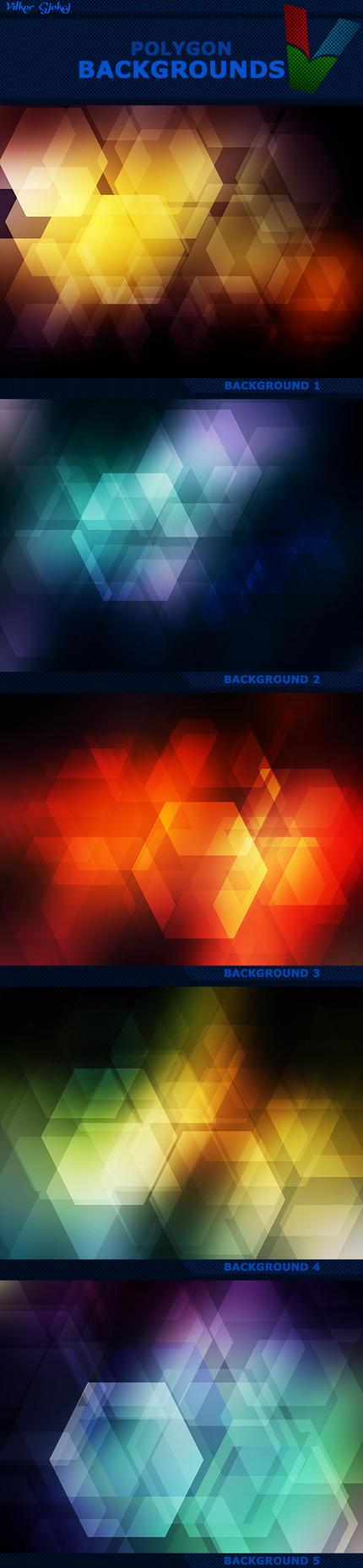 Polygon Photoshop Backgrounds by ViktorGjokaj