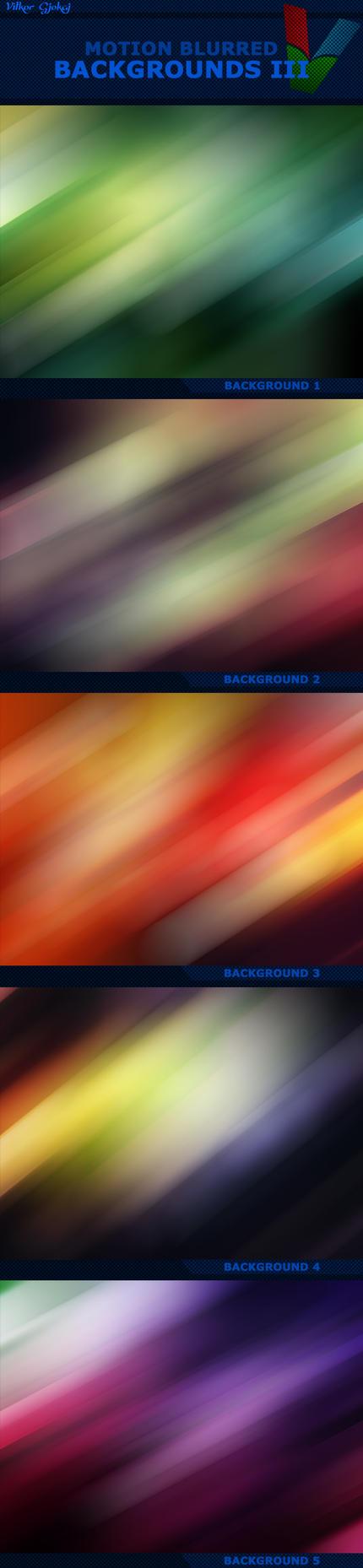 Motion Blurred Backgrounds III by ViktorGjokaj