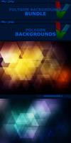 Polygon Backgrounds BUNDLE by ViktorGjokaj