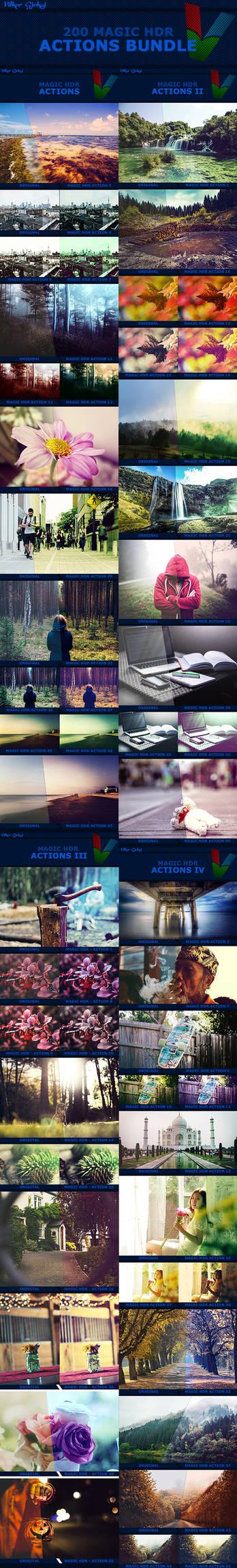 200 Magic HDR Photoshop Actions - BUNDLE