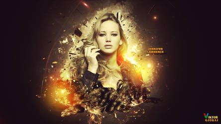 Jennifer Lawrence - Wallpaper by ViktorGjokaj