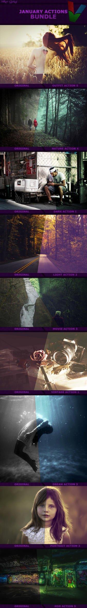 January Photoshop Actions BUNDLE by ViktorGjokaj