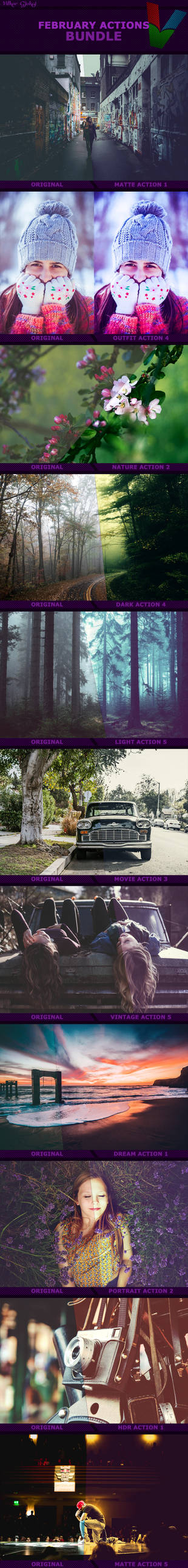 February Photoshop Actions BUNDLE