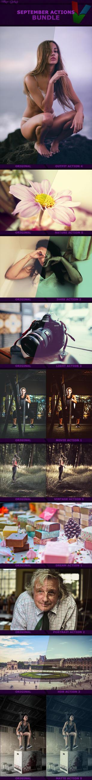 September Photoshop Actions Bundle by ViktorGjokaj