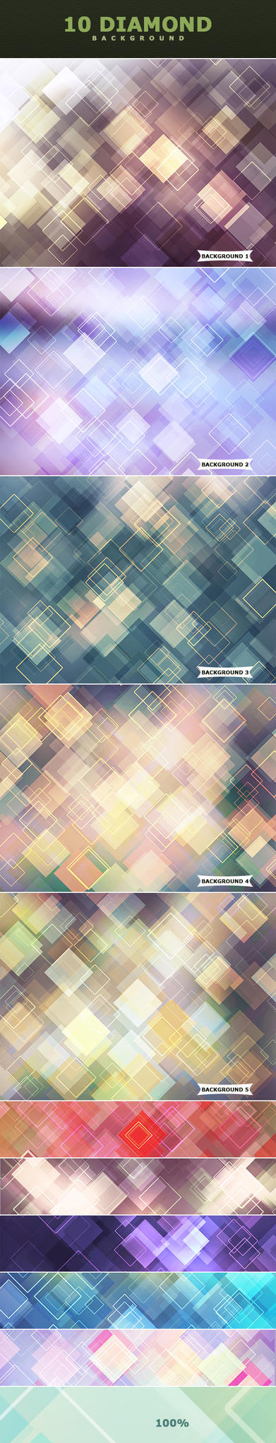 Diamond Backgrounds by ViktorGjokaj