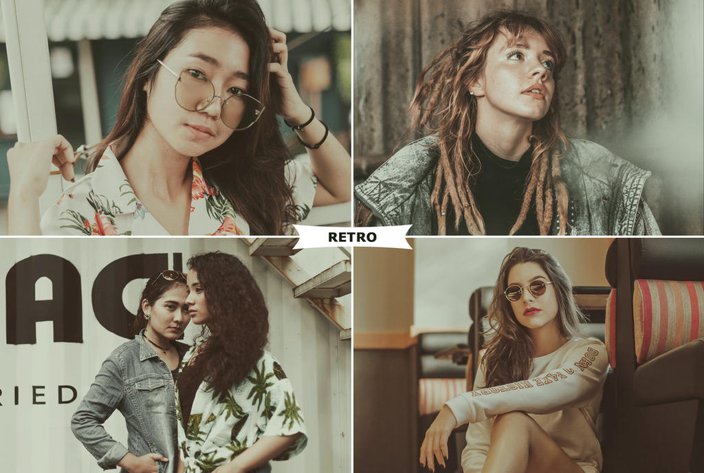 Retro Photoshop Actions by ViktorGjokaj