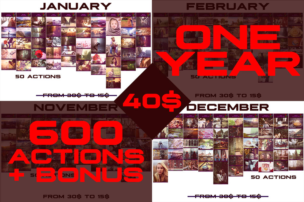 +600 Photoshop Actions + BONUS!! BUNDLE OFF by ViktorGjokaj