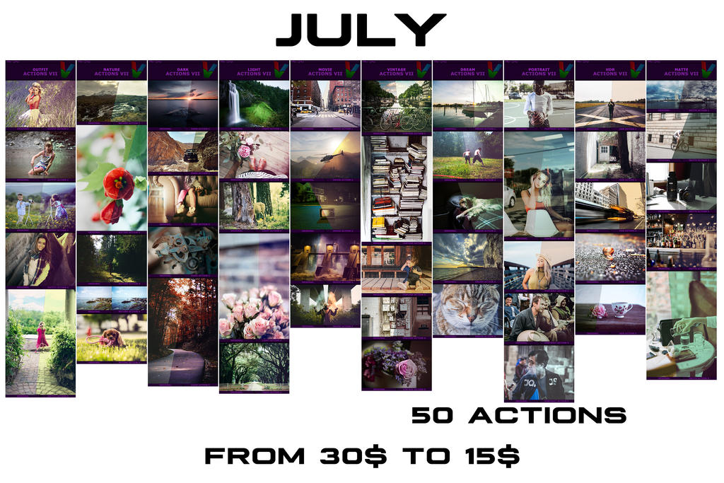 July - Discount OFF Photoshop Actions by ViktorGjokaj